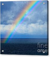 Rainbow Over The Atlantic Ocean Acrylic Print