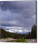 Rainbow Over The Mountains Acrylic Print
