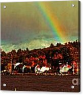 Rainbow Over Winnipesaukee Two Acrylic Print