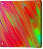 Rainbow Passion Abstract Upper Left Acrylic Print
