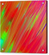 Rainbow Passion Abstract Upper Right Acrylic Print