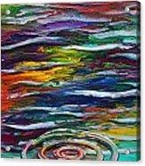 Rainbow Ripple Acrylic Print