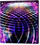 Rainbow Ripples Acrylic Print by Elizabeth S Zulauf