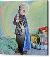 Rainbow Sherbet Little Ninja Boy Acrylic Print
