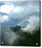 Rainbow Shrouded In Mist Acrylic Print