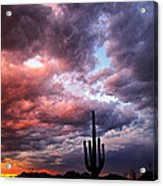 Rainbow Skies At Sunset  Acrylic Print