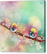 Rainbow Smoke Drops Acrylic Print