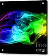 Rainbow Smoke Acrylic Print