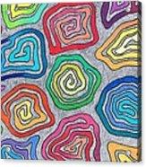 Rainbow Snails Acrylic Print