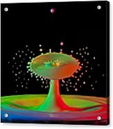 Rainbow Splash Acrylic Print