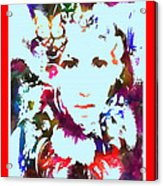 Rainbow Splattered Get A Little Closer Acrylic Print
