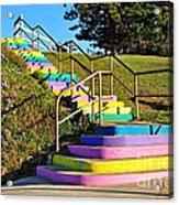Rainbow Steps Acrylic Print