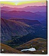 Rainbow Sunrise Acrylic Print