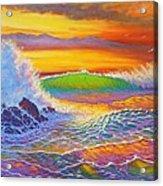 Rainbow Sunset II Acrylic Print
