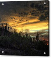 Rainbow Sunset  Acrylic Print