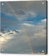 Rainbow Through The Clouds Acrylic Print