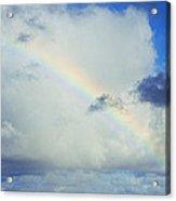 Rainbow Through The Clouds, Oahu Acrylic Print