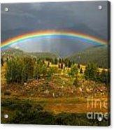 Rainbow Through The Forest Acrylic Print