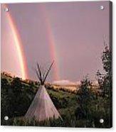 Rainbow Tipi Acrylic Print