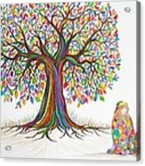 Rainbow Tree Dreams Acrylic Print