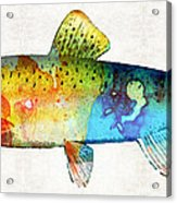 Rainbow Trout Art By Sharon Cummings Acrylic Print