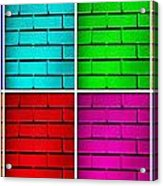 Rainbow Walls Acrylic Print by Semmick Photo