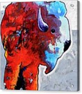 Rainbow Warrior Bison Acrylic Print