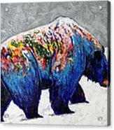Rainbow Warrior - Heavy Going Grizzly Acrylic Print