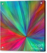 Rainbow Wheel Acrylic Print by ME Kozdron