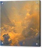 Rainbow With Sunrise Colors Over Pensacola Beach Acrylic Print