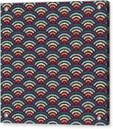 Rainbowaves Pattern Dark Acrylic Print