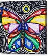 Rainbows And Butterflies Acrylic Print