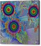 Rainbows In Flowers  Acrylic Print