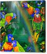 Rainbows In Paradise Acrylic Print
