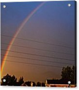 Rainbows Welcome Here Acrylic Print