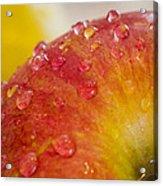 Raindrops On An Apple Acrylic Print