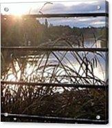 Raindrops To River Sunrise Acrylic Print