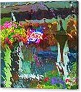Rainfall Acrylic Print by Helen Carson