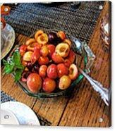 Rainier Cherries - Yummy Acrylic Print