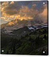 Rainier Evening Skies Drama Acrylic Print