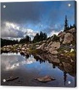 Rainier Spray Park Reflection Acrylic Print