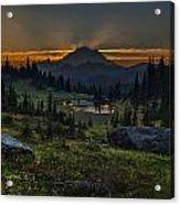 Rainier Sunset Basin Acrylic Print