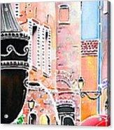 Raining In St-paul De Vence Acrylic Print