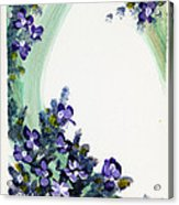 Raining Violets Acrylic Print