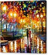 Rain's Rustle - Palette Knife Oil Painting On Canvas By Leonid Afremov Acrylic Print