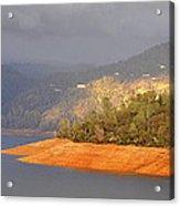 Rainstorm On The Lake Acrylic Print