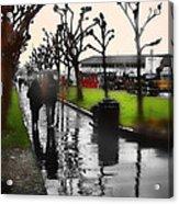 Rainy At The Pier Acrylic Print