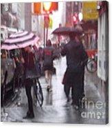 Rainy Corner - New York City Acrylic Print