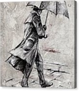 Rainy Day #07 Drawing Acrylic Print by Emerico Imre Toth