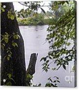 Rainy Day At The River Acrylic Print